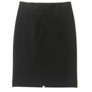 J. Crew Black Sweatshirt Knit Pencil Skirt